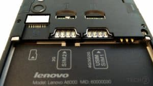 Lenovo A6000 Dual Sim with 4G Network