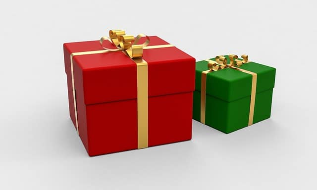 The gifts basket to check out